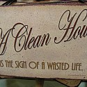 A clean house is the sign of a wasted life