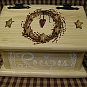 Heart Star Recipe Box