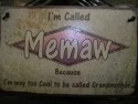 Memaw  -  Cat No:   -  Click To Order  -  ID: 1208