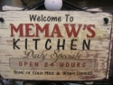 Memaw's Kitchen  -  Cat No:   -  Click To Order  -  ID: 815