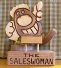 The Saleswoman  -  Cat No:   -  Click To Order  -  ID: 392