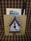 Birdhouse blue with pit berry  -  Cat No:   -  Click To Order  -  ID: 1147